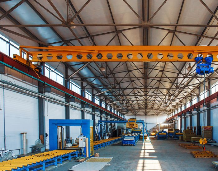 Sandwich panel or metal work profiling factory. New modern machine tool conveyor for roll forming